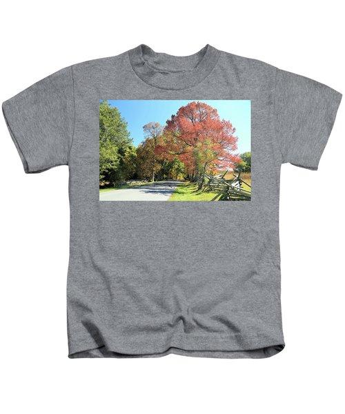 Gettysburg  In The  Fall Kids T-Shirt