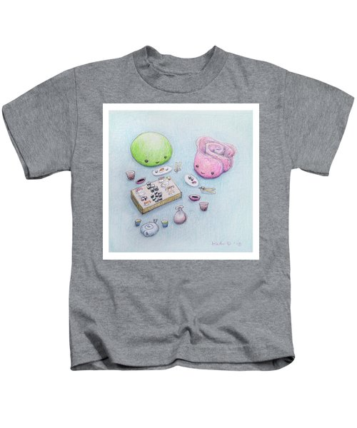 Gari-san And Wasabi-san Enjoy A Lovely Dinner Kids T-Shirt