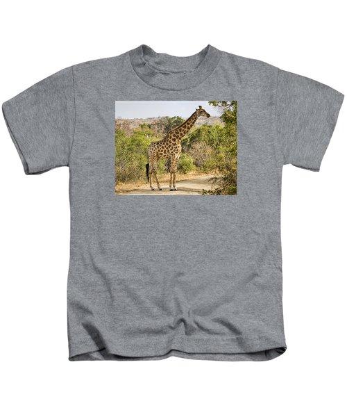 Giraffe Grazing Kids T-Shirt