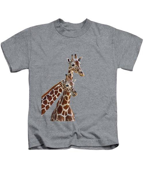 Giraffe Pair - Transparent Kids T-Shirt