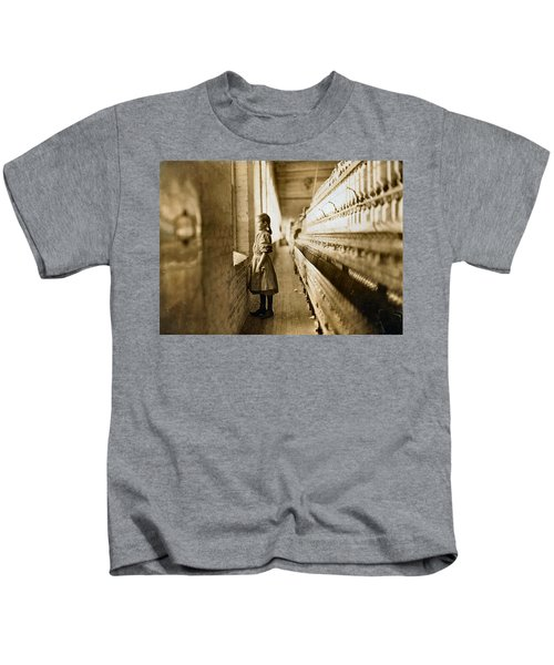 Girl Spinner 11 Years Old Rhodes Manufacturing Co Lincolnton 1908 Kids T-Shirt