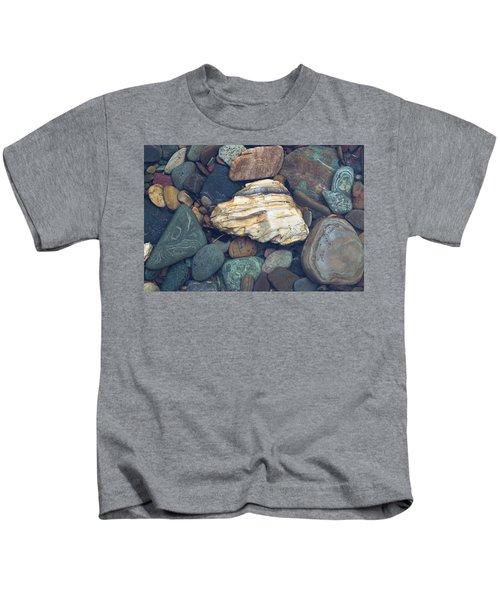 Glacier Park Creek Stones Submerged Kids T-Shirt