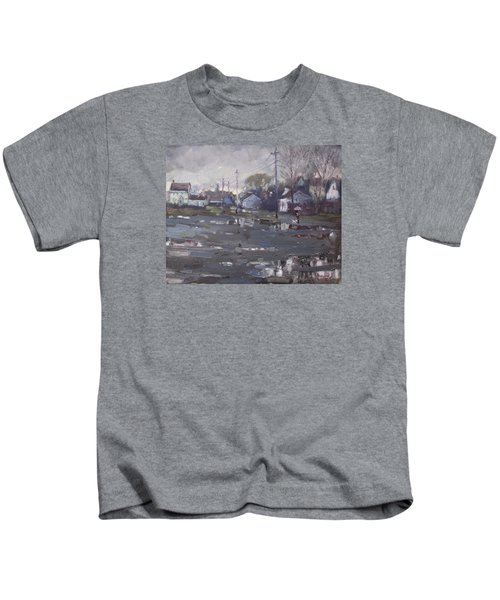 Gloomy And Rainy Day By Hyde Park Kids T-Shirt by Ylli Haruni