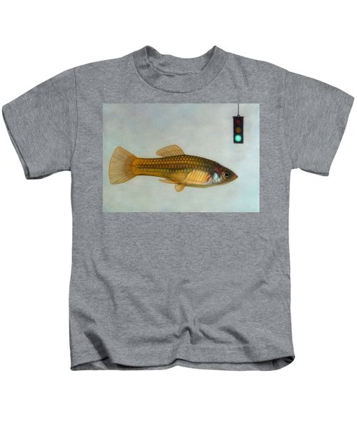Go Fish Kids T-Shirt by James W Johnson