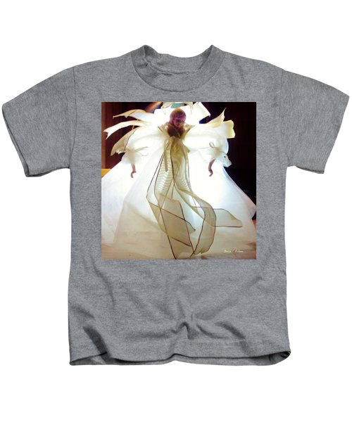 Gold And White Angel Kids T-Shirt