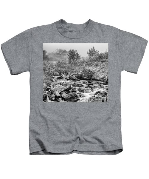 Gold Rush Mining Shack In The Alaskan Mountains Kids T-Shirt