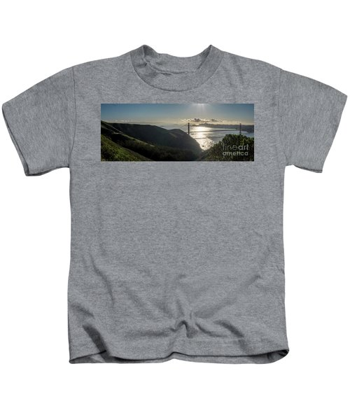 Golden Gate Bridge From The Road Up The Mountain Kids T-Shirt