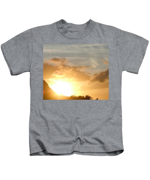 Golden Oahu Sunset Kids T-Shirt