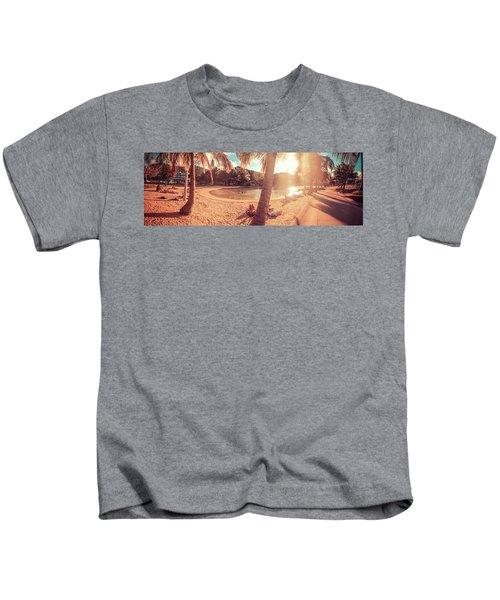 Golden Sunsets Of Airlie Beach Kids T-Shirt
