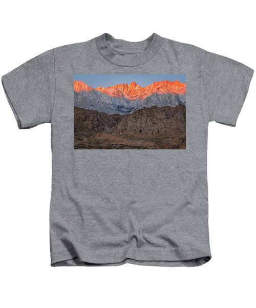 Good Morning Mount Whitney Kids T-Shirt