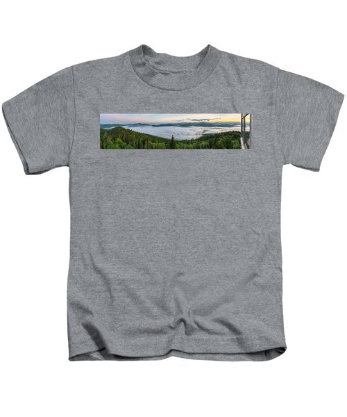 Goodnow Mountain Panorama Kids T-Shirt