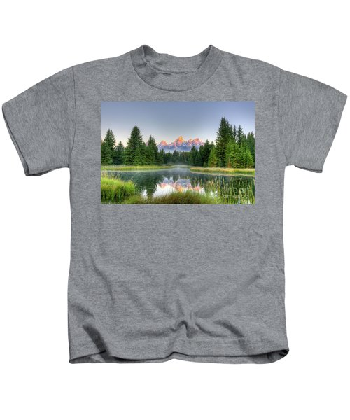 Grand Tetons Sunrise 2 Kids T-Shirt