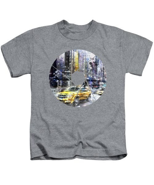 Graphic Art New York City Kids T-Shirt by Melanie Viola