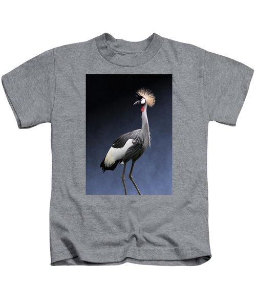 Gray Crowned Crane Kids T-Shirt