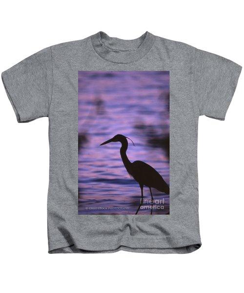 Great Blue Heron Photo Kids T-Shirt