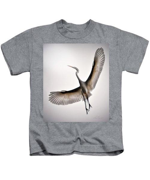 Great Egret Majesty Kids T-Shirt