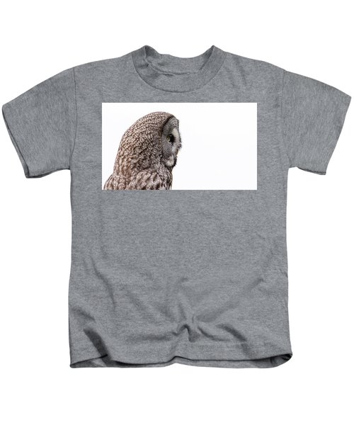 Great Grey's Profile On White Kids T-Shirt