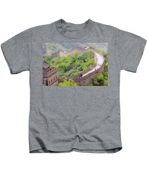 Great Wall At Badaling Kids T-Shirt