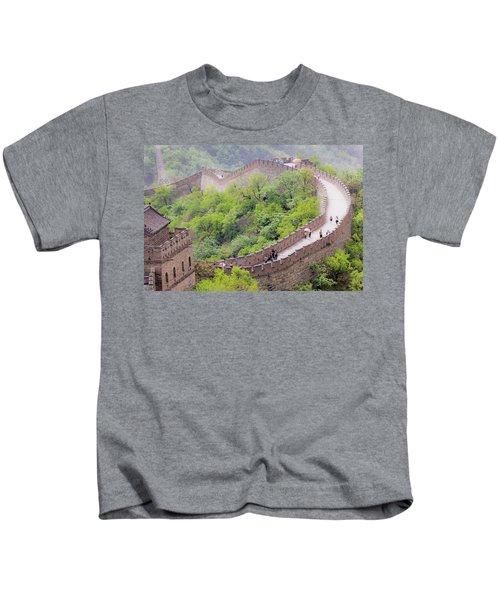 Great Wall At Badaling Kids T-Shirt