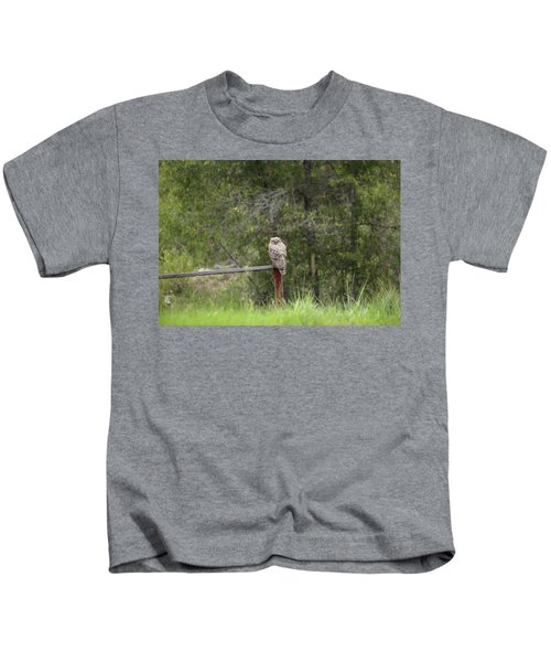 Greathornedowl2 Kids T-Shirt