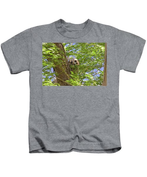 Greathornedowlchick1 Kids T-Shirt