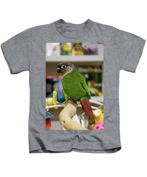 Green Cheek Conure Kids T-Shirt