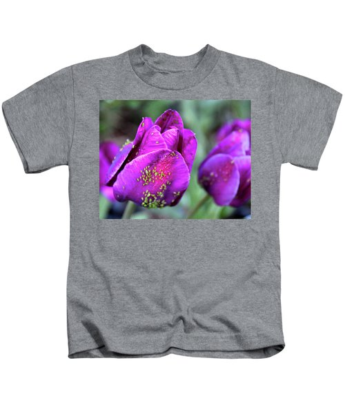 Aphids On Purple Tulips Kids T-Shirt