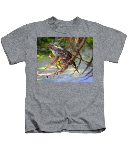 Green Heron Brazos Bend State Park Kids T-Shirt