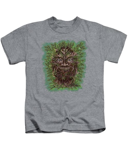 Green Man Of The Forest Kids T-Shirt