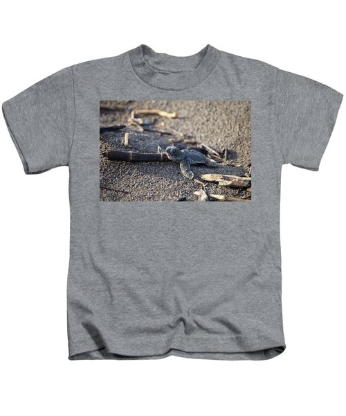 Green Sea Turtle Hatchling Kids T-Shirt
