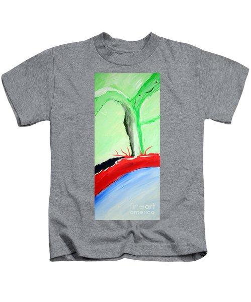 Green Tree Red Ridge Kids T-Shirt