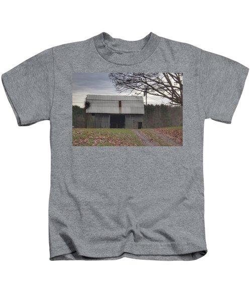 0014 - Grey Horse Barn Kids T-Shirt