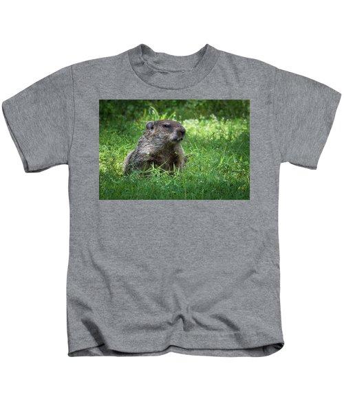 Groundhog Posing  Kids T-Shirt