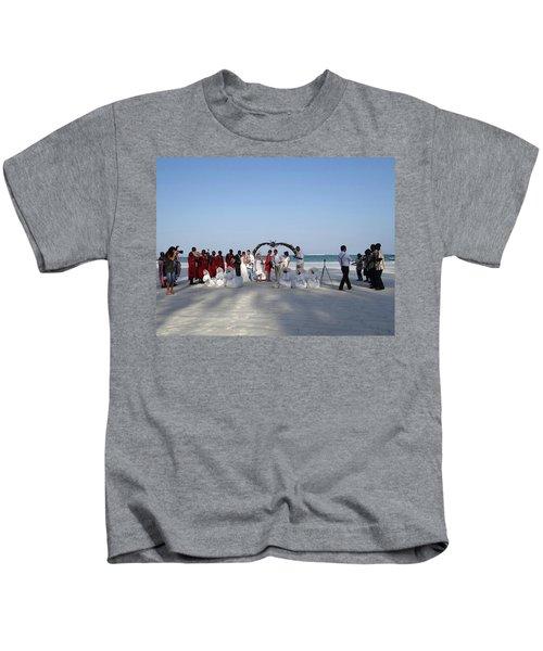 Group Wedding Photo Africa Beach Kids T-Shirt