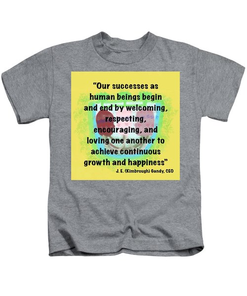 Growth With Humanity Kids T-Shirt