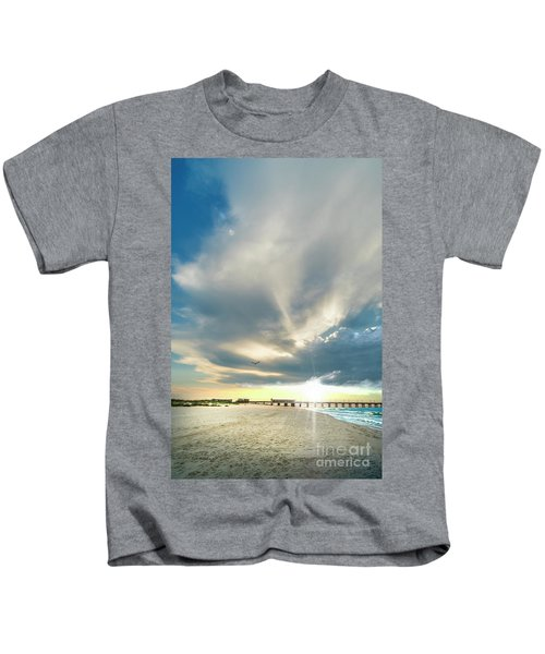 Gulf Shores Al Pier Seascape Sunrise 152a Kids T-Shirt