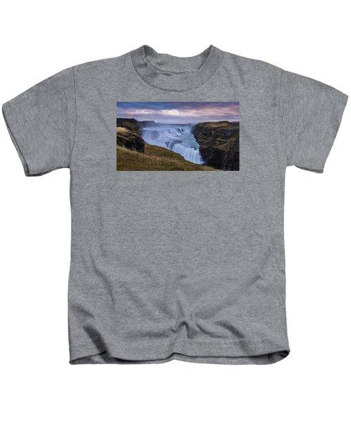 Gullfoss, Sunrise Kids T-Shirt