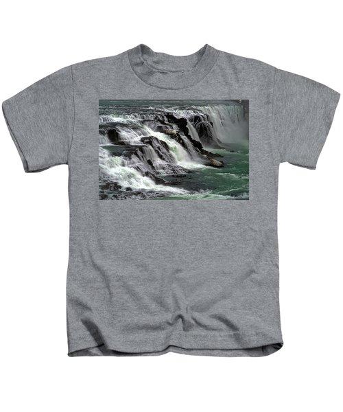 Gullfoss Waterfalls, Iceland Kids T-Shirt