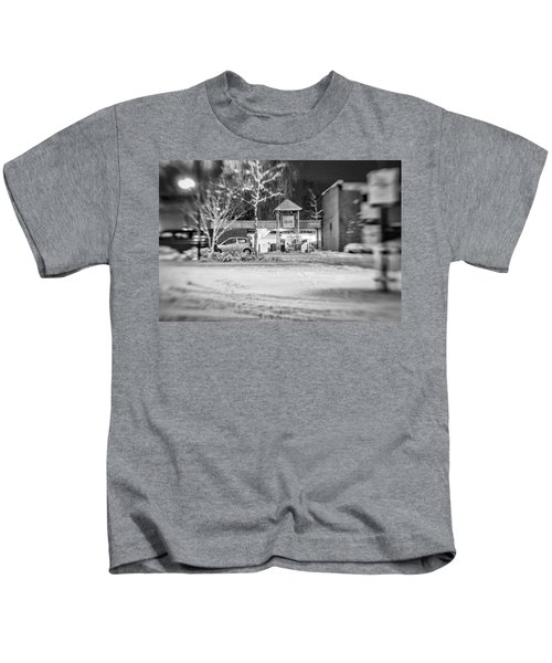 Hale Barns Square In The Snow Kids T-Shirt