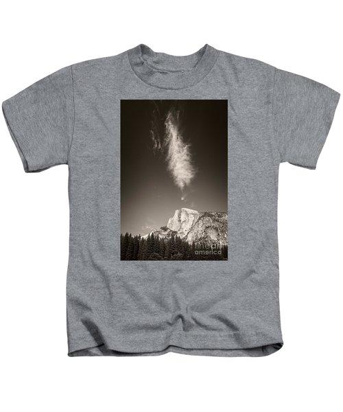 Half Dome And Cloud Kids T-Shirt