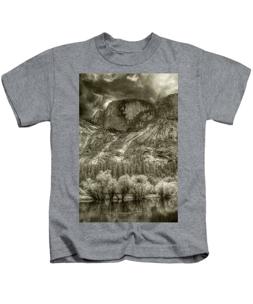 Half Dome Over Mirror Lake Kids T-Shirt