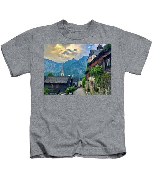 Hallstatt Village Stroll Kids T-Shirt