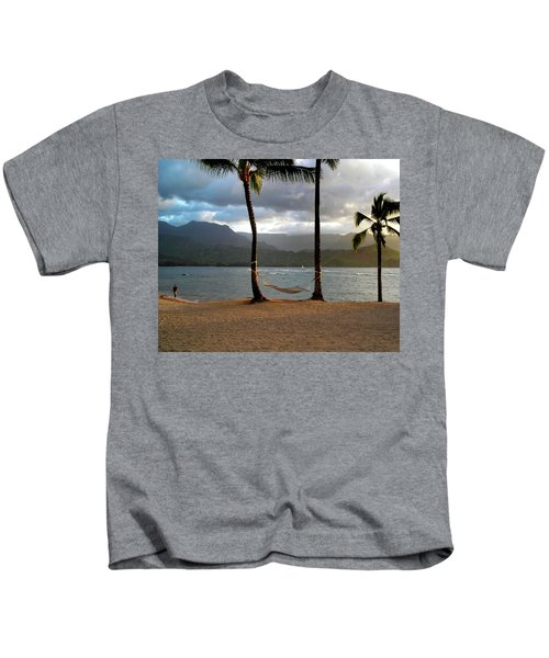 Hammock At Hanalei Bay Kids T-Shirt
