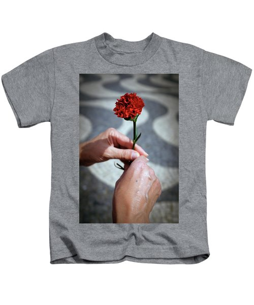 Hands And Carnation Kids T-Shirt