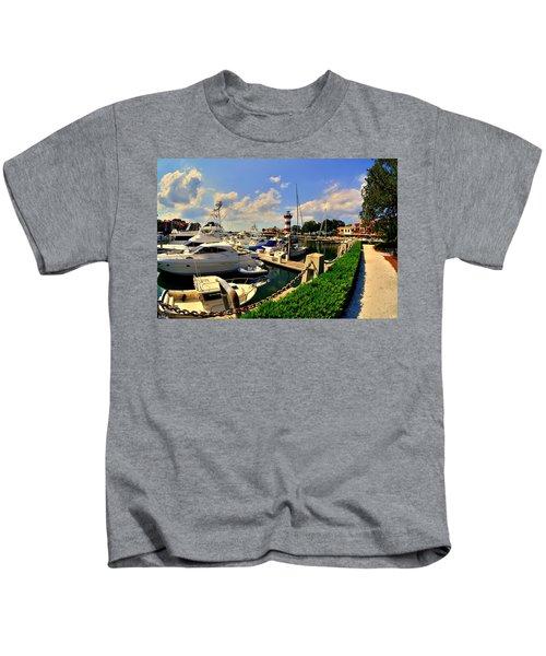 Harbour Town Marina Sea Pines Resort Hilton Head Sc Kids T-Shirt