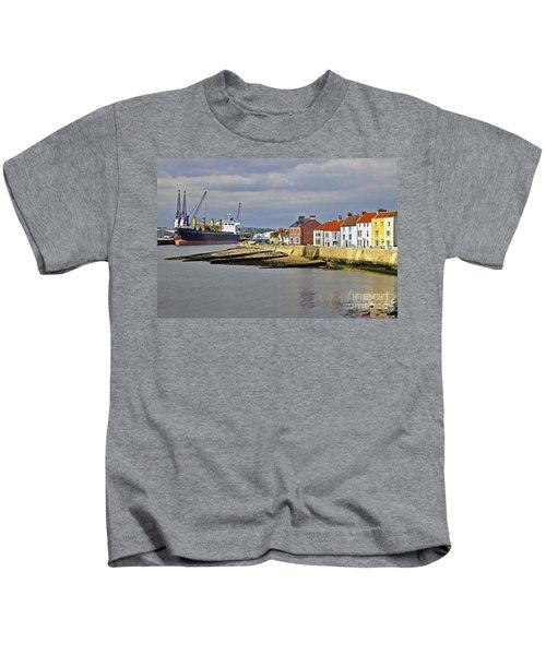 Hartlepool Harbour Evening Kids T-Shirt