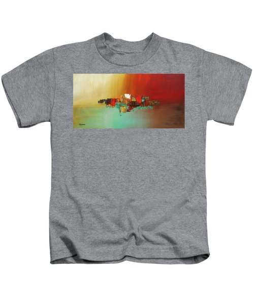 Hashtag Happy - Abstract Art Kids T-Shirt