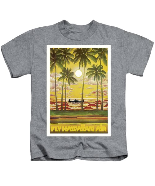 Hawaii Vintage Airline Travel Poster  Kids T-Shirt
