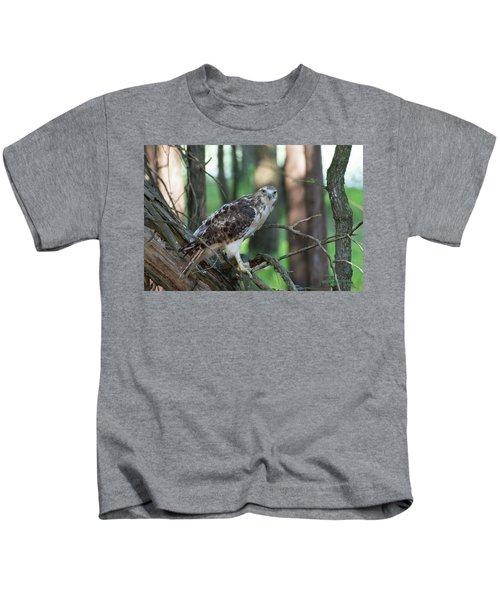 Hawk Portrait Kids T-Shirt