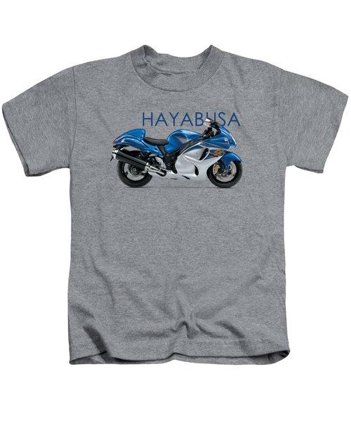 Hayabusa In Blue Kids T-Shirt by Mark Rogan